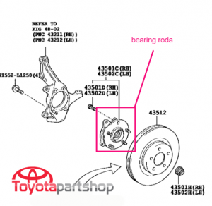 bearing roda alphard