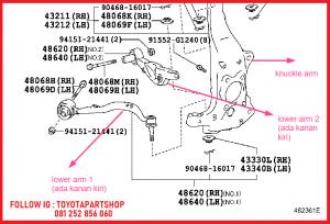 desain lower arm lexus LS460