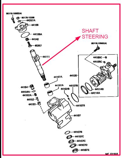 gambar shaft steering di toyota land cruiser
