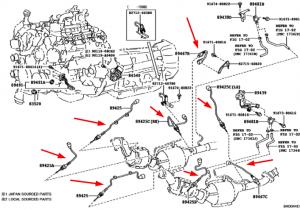 sensor2 di gas buang land cruiser