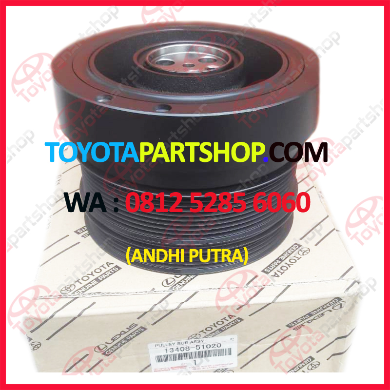jual pulley crank shaft toyota land cruiser LC 200 wa : 08125285060